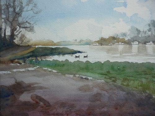 Thames at Richmond, by Water Lane