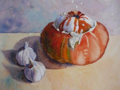 Turks Turban Squash and Garlic