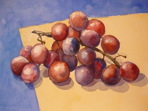 Red Grapes (watercolour) SOLD