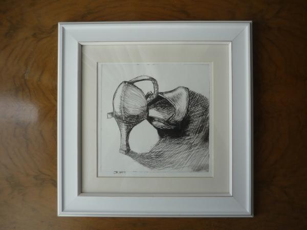 tango drypoint framed