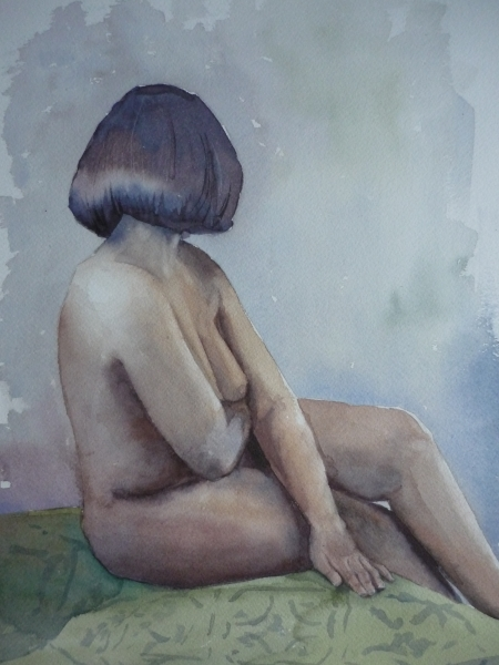 Seated Nude (watercolour) SOLD