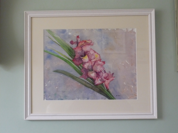 pink gladi framed