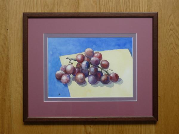 Red Grapes framed