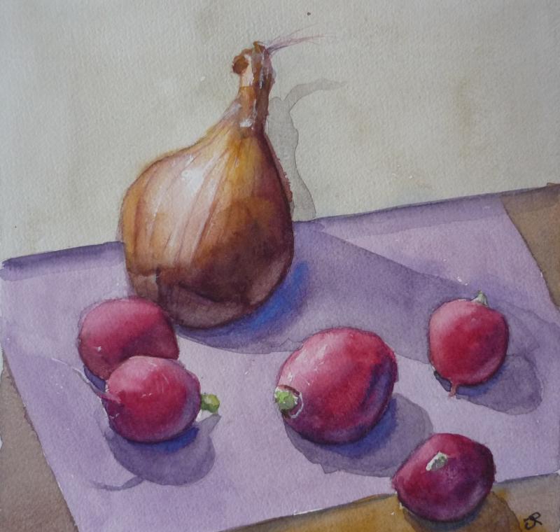Radishes and Onion