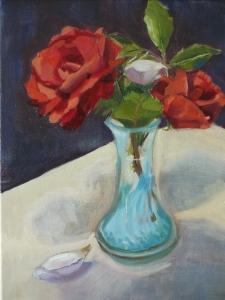 Vase of Roses oil