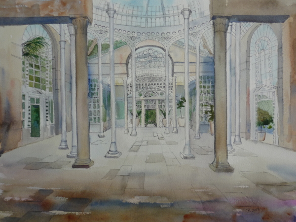 Syon Great Conservatory Centre pen&wash